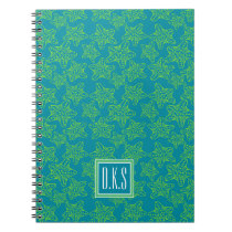 Starfish Crowd Pattern | Monogram Notebook