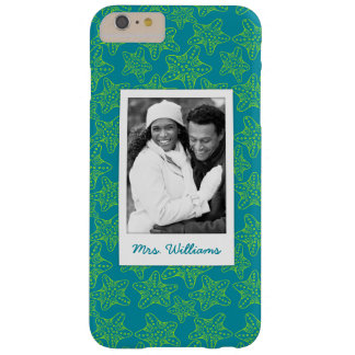 Starfish Crowd Pattern | Your Photo & Name Barely There iPhone 6 Plus Case