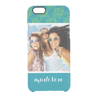 Starfish Crowd Pattern | Your Photo & Name Clear iPhone 6/6S Case