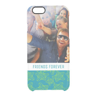Starfish Crowd Pattern | Your Photo & Text Clear iPhone 6/6S Case
