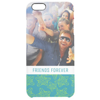 Starfish Crowd Pattern | Your Photo & Text Clear iPhone 6 Plus Case