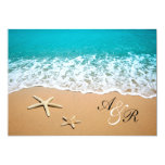 "Starfish Destination Beach Wedding Invitation 5"" X 7"" Invitation Card"