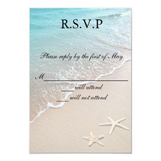 Starfish Destination Beach Wedding RSVP Cards
