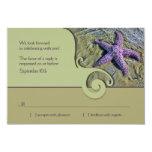 Starfish Destination Wedding RSVP Reply Card
