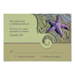 Starfish Destination Wedding RSVP Reply Card Personalized Announcements