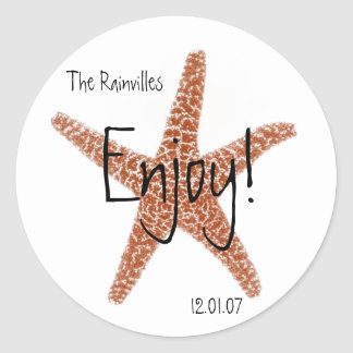 Starfish Favor Stickers