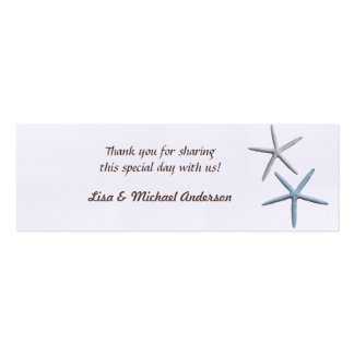 Starfish Favor Tag Thank You Cards