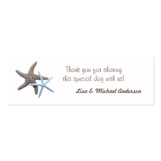 Starfish Favor Tag Thank You Cards Double-Sided Mini Business Cards (Pack Of 20)