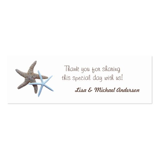 Wedding Gift Tags Canada : Starfish Favor Tag Thank You Cards Double-Sided Mini Business Cards ...