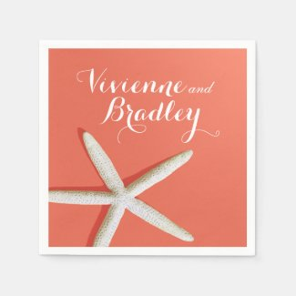 Starfish Fingers Beach | coral Napkin