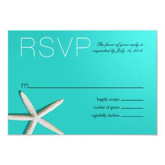 Starfish Fingers Beach RSVP | teal Card