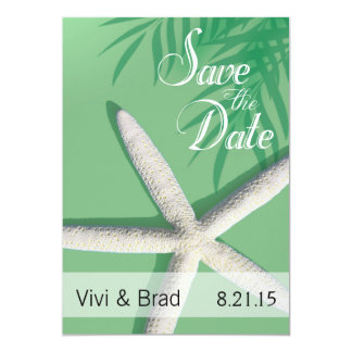 Starfish Fingers Save the Date | mint green Card