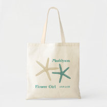 Starfish Flower Girl Personalized Tote