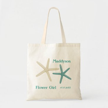 Beach Themed Starfish Flower Girl Personalized Tote