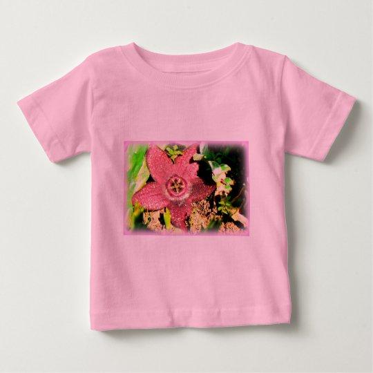 Starfish Flower - Purple Cactus/Succulent Flower Baby T-Shirt