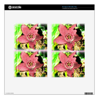 Starfish Flower - Purple Cactus/Succulent Flower Decals For Kindle Fire