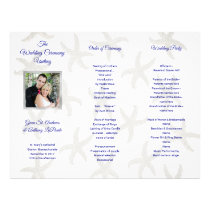 Starfish Folded Photo Wedding Ceremony Program