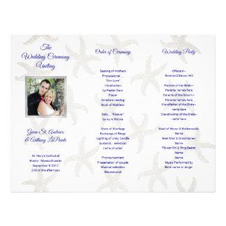 Starfish Folded Photo Wedding Ceremony Program
