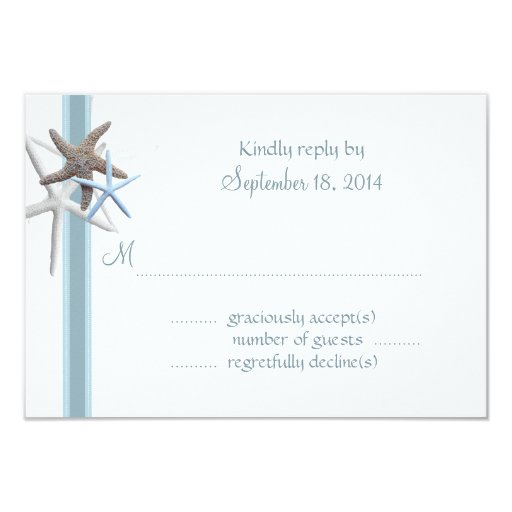 Starfish Gathering A1 Size RSVP Cards
