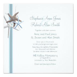 Gathering invitations announcements zazzle starfish gathering square wedding invitation stopboris Choice Image
