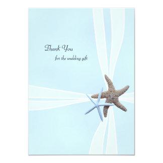 Starfish Gift Box Flat Wedding Thank You Notes Card
