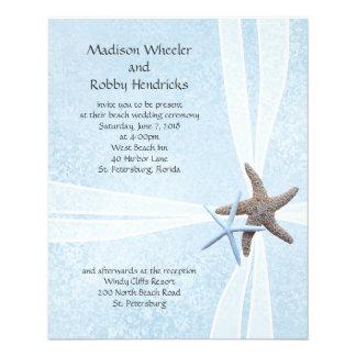Starfish Gift Box Wedding Ceremony Invitations Flyer