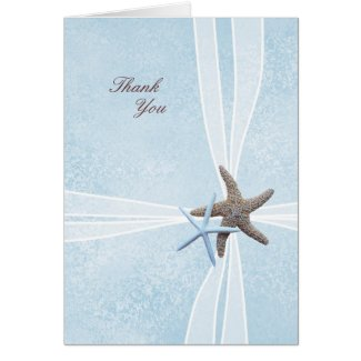 Zazzle Store Feature - Starfish Gift Box Wedding Thank You Cards