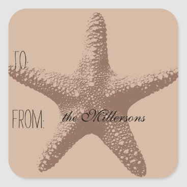 Beach Themed Starfish Gift Tag