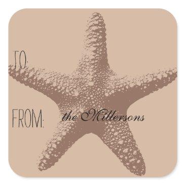 Beach Themed Starfish Gift Tag