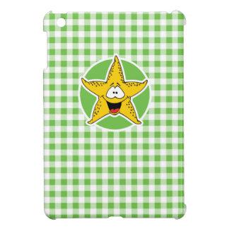 Starfish; Green Gingham iPad Mini Cases