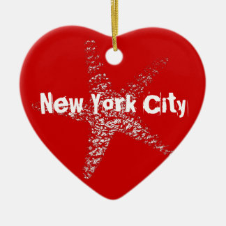 Starfish Heart Ornament NYC or (Feature Your Town)