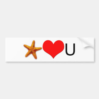 Starfish Hearts You Car Bumper Sticker