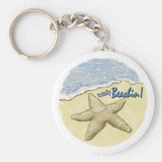 Starfish humor keychain
