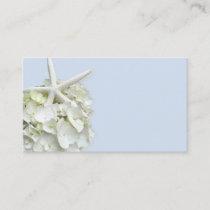 Starfish Hydrangea Blank Place Cards