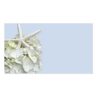 Starfish Hydrangea Blank Place Cards Business Card