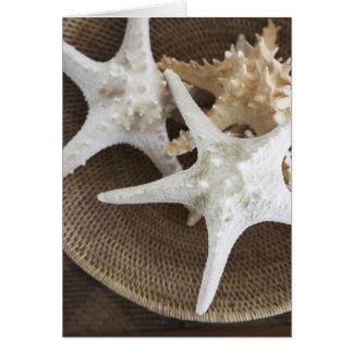 Starfish in a basket card