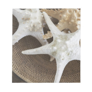 Starfish in a basket note pad