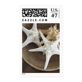 Starfish in a basket postage stamp
