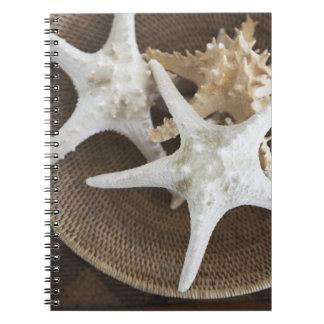 Starfish in a basket spiral notebook