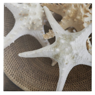 Starfish in a basket tile