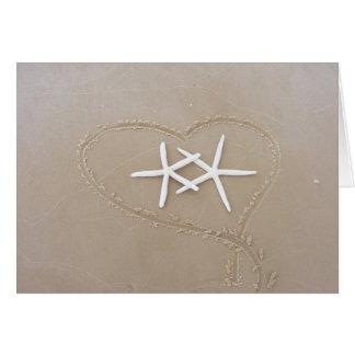 Starfish in Heart Card