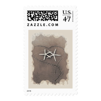 Starfish in Heart Postage Stamps
