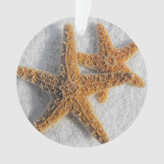 Starfish in Sand Beach Wedding Ornament