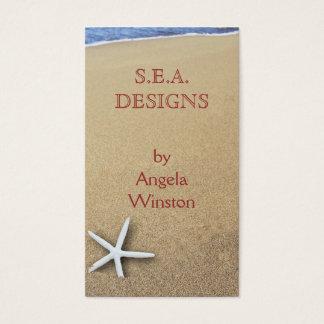 Starfish in Sand Custom Business Cards