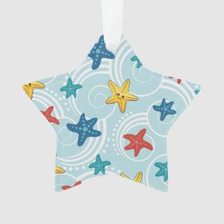 Starfish in Swirly Ocean
