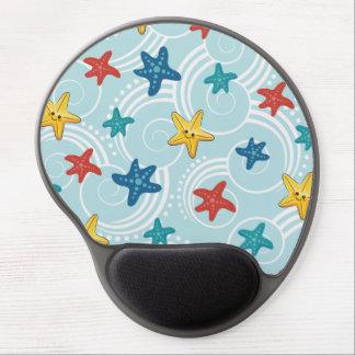 Starfish in Swirly Ocean Gel Mousepads