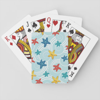 Starfish in Swirly Ocean Deck Of Cards