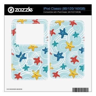 Starfish in Swirly Ocean Skin For The iPod Classic