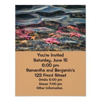 Starfish in the Ocean 4.25x5.5 Paper Invitation Card