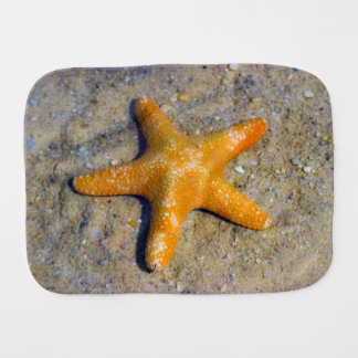 Starfish in the Sand Baby Burp Cloth